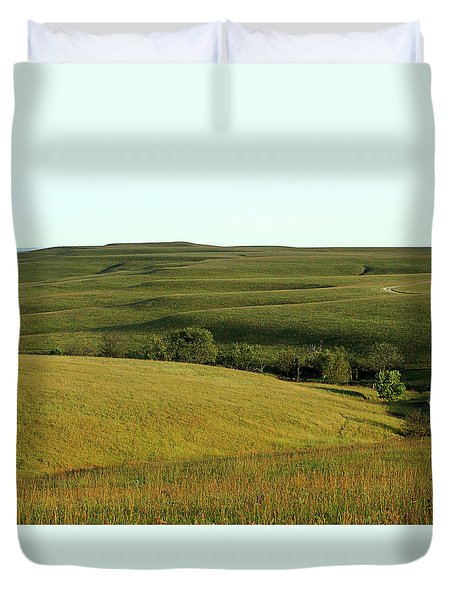 Hills Of Kansas Duvet Cover by Thomas Bomstad