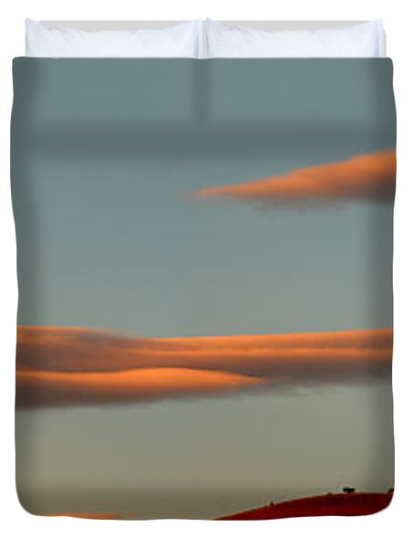 Hills Under The Sunset Clouds Of Sonoma County California Duvet Cover