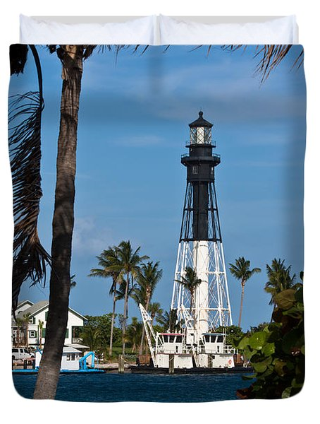 Hillsboro Inlet Lighthouse And Park Duvet Cover