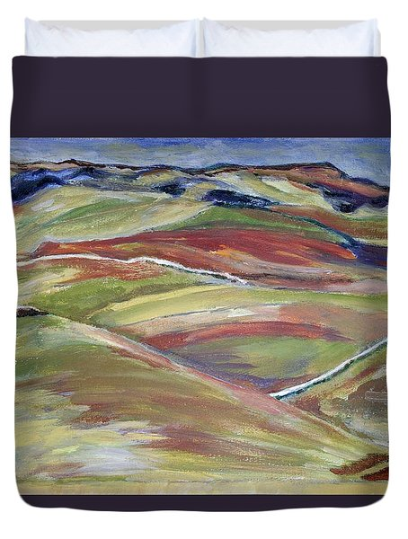 Northern Hills, Clare Island Duvet Cover
