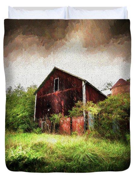 Hillside Barn Duvet Cover
