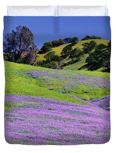 Hillside Carpet Duvet Cover by Josephine Buschman