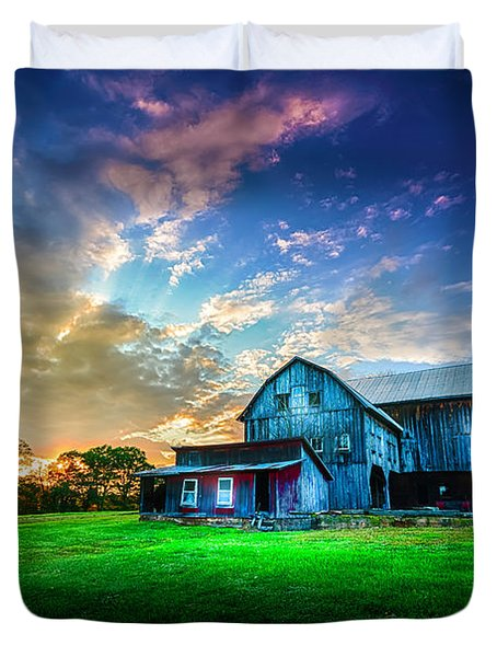 Hillside Sunset Duvet Cover