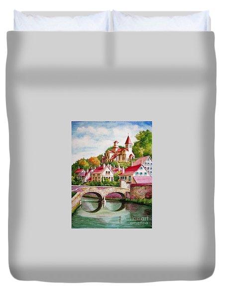 Hillside Village Duvet Cover by Charles Hetenyi