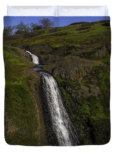 Hillside Waterfall Duvet Cover