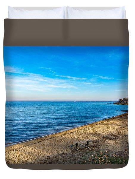 Hillsmere Beach On The Chesapeake Duvet Cover