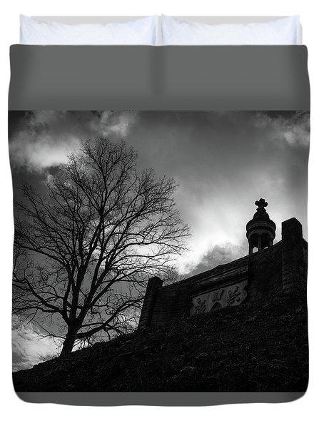 Duvet Cover featuring the photograph Hilltop Memorial  by James L Bartlett