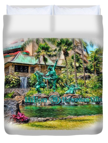Hilton Hawaiian Village Waikiki Beach Resort Duvet Cover