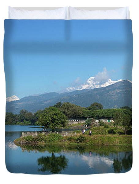 Duvet Cover featuring the photograph Himalayan Panorama by Stefan Nielsen