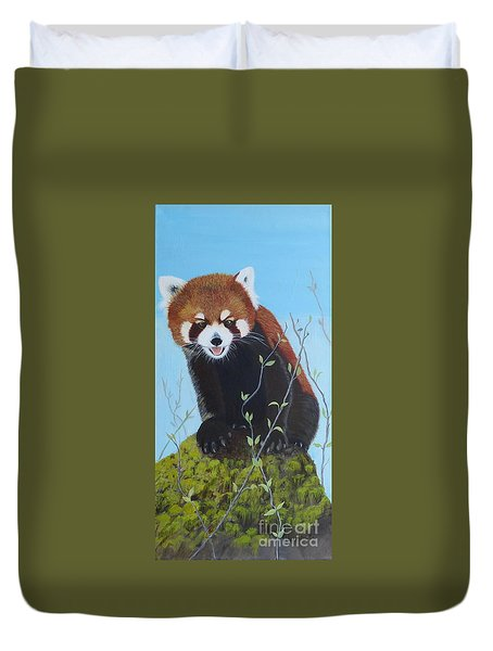 Himalayan Red Panda Duvet Cover