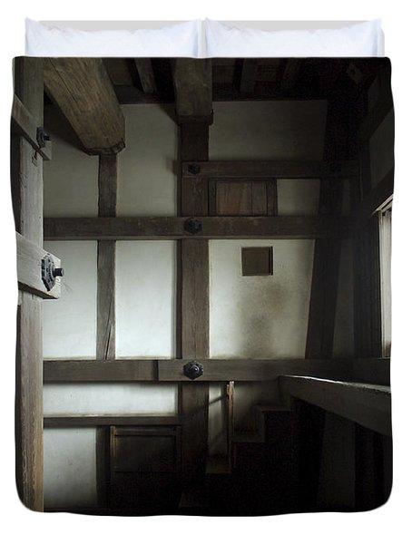 Himeji Medieval Castle Interior - Japan Duvet Cover