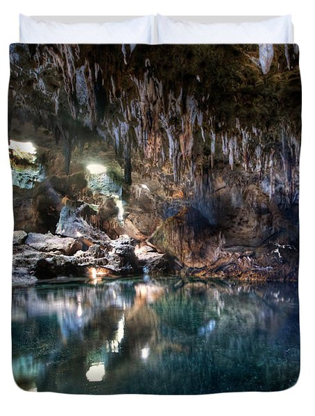 Duvet Cover featuring the photograph Hinagdanan Cave by Yhun Suarez