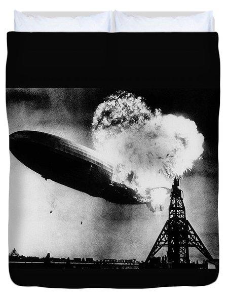 Hindenburg Disaster - Zeppelin Explosion Duvet Cover