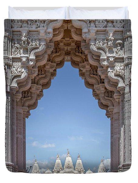 Hindu Architecture Duvet Cover
