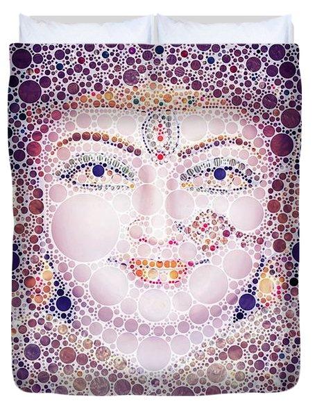 Hindu Eyes, Pop Art By Mb Duvet Cover