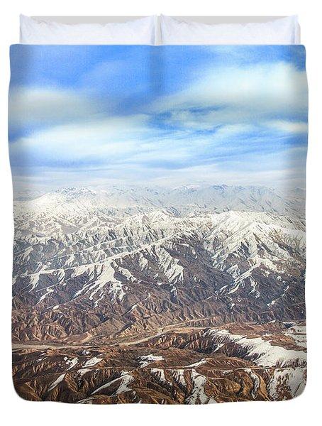 Hindu Kush Snowy Peaks Duvet Cover