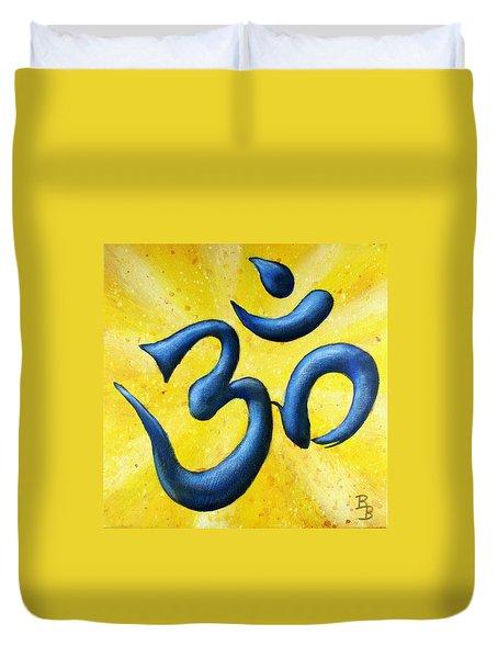 Hindu Om Symbol Art Duvet Cover