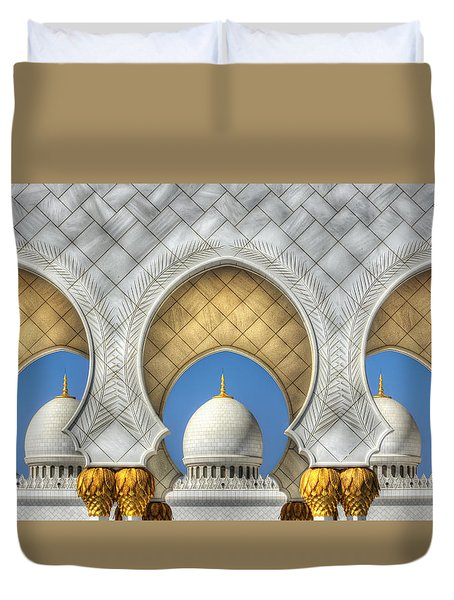 Duvet Cover featuring the photograph Hindu Temple by John Swartz