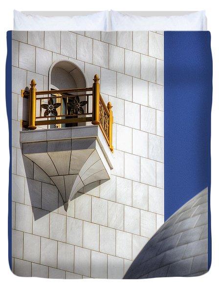Hindu Temple Tower Duvet Cover by John Swartz