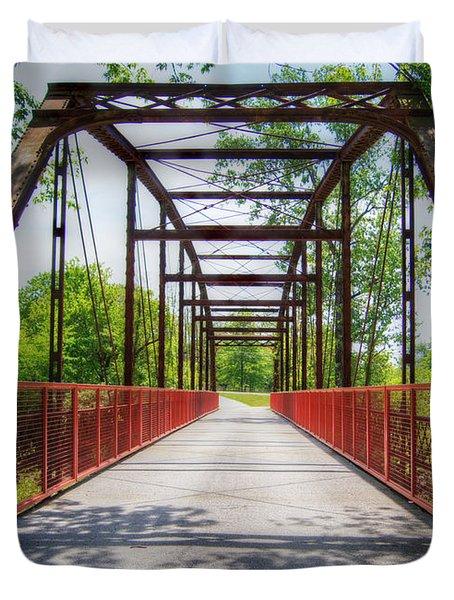 Hinkson Creek Bridge Duvet Cover by Cricket Hackmann