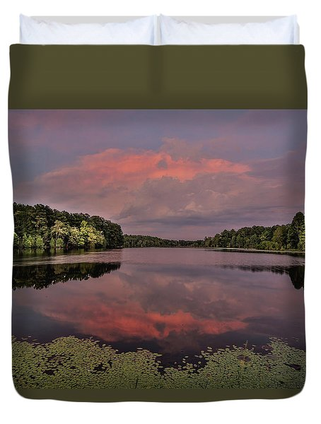 Hinson Lake Clouds Duvet Cover