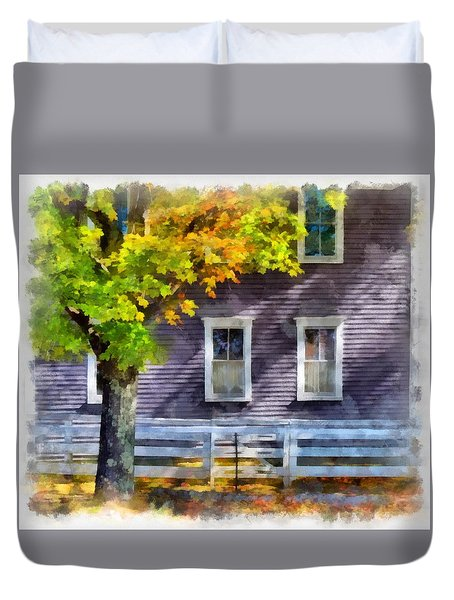 Hints Of Fall Duvet Cover