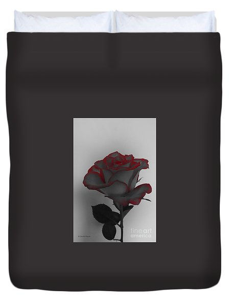 Hints Of Red- Single Rose Duvet Cover