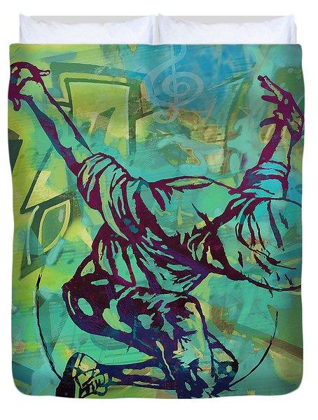 Hip Hop Street Art Dancing Poster - 1 Duvet Cover
