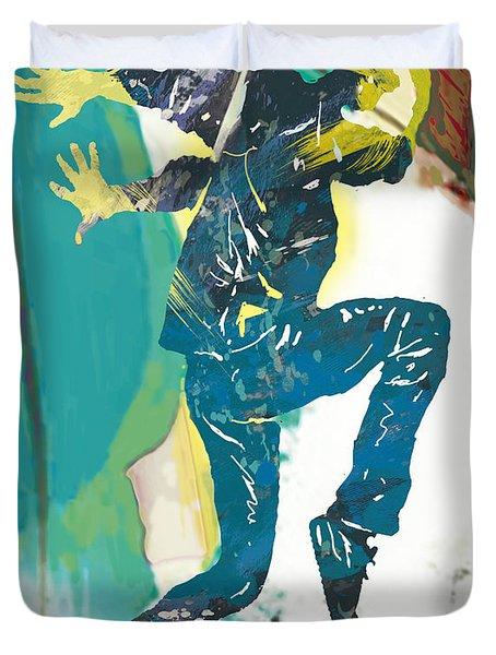 Hip Hop Street Dancing  New Pop Art Poster  -  6 Duvet Cover