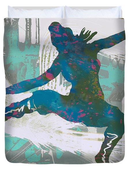 Hip Hop Street Dancing  Pop Art Poster - 1 Duvet Cover