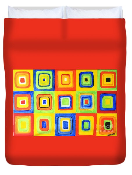 Hip To Be Square Duvet Cover