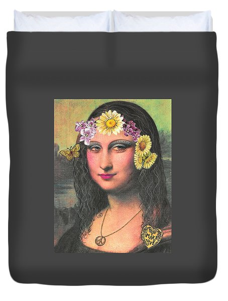 Hippie Gioconda Duvet Cover