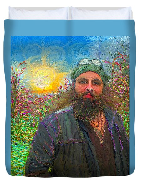Hippie Mike Duvet Cover