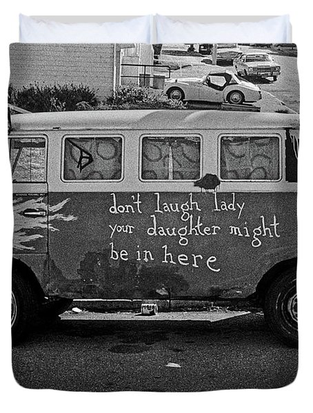 Hippie Van, San Francisco 1970's Duvet Cover