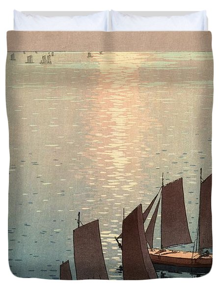 Hiroshi Yoshida, Hikaru Umi, The Sparkling Sea, 1926 Duvet Cover