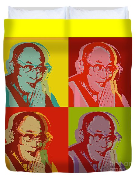 His Holiness The Dalai Lama Of Tibet Duvet Cover