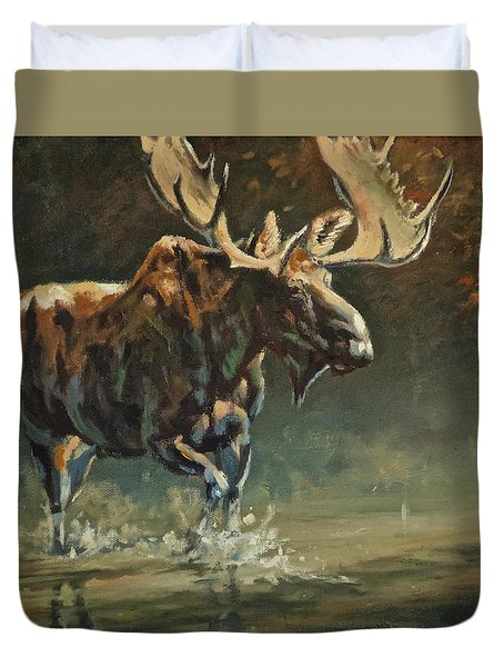 His Majesty Duvet Cover by Mia DeLode