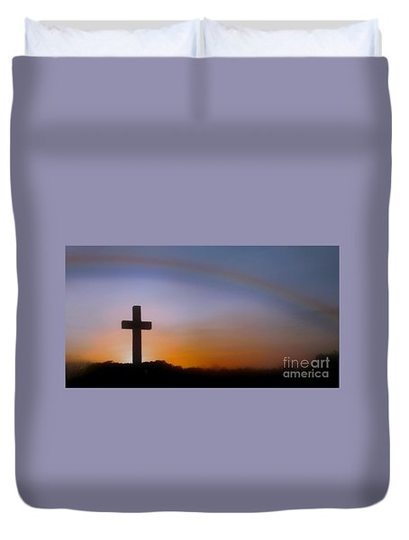 Duvet Cover featuring the photograph His Promise by Benanne Stiens