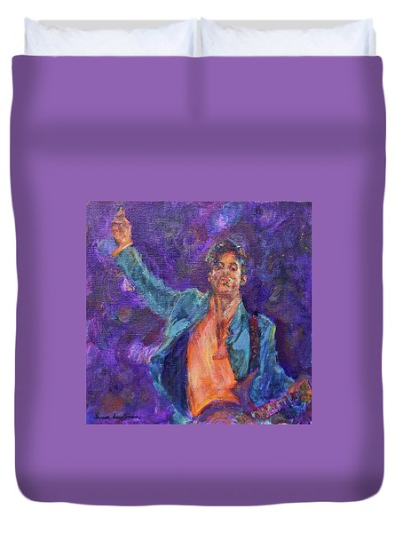 His Purpleness - Prince Tribute Painting - Original Art Duvet Cover