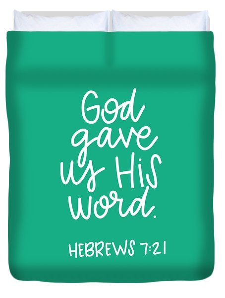 His Word Duvet Cover