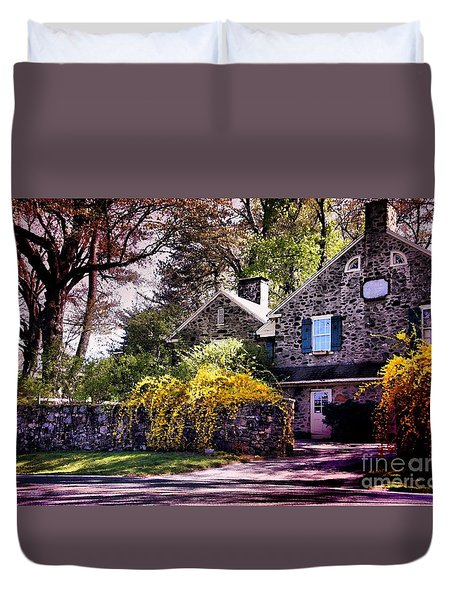 Duvet Cover featuring the photograph Historic 1889 Home by Polly Peacock