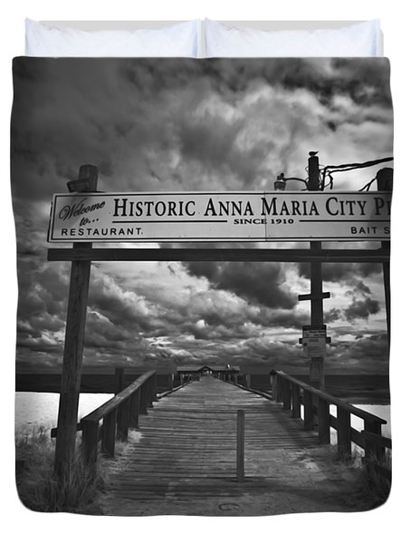 Historic Anna Maria City Pier 9177436 Duvet Cover