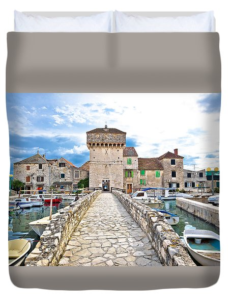 Historic Architecture Of Kastel Gomilica Duvet Cover by Brch Photography