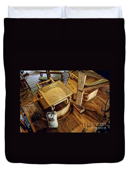 Historic Bale Mill Duvet Cover by Jason Abando