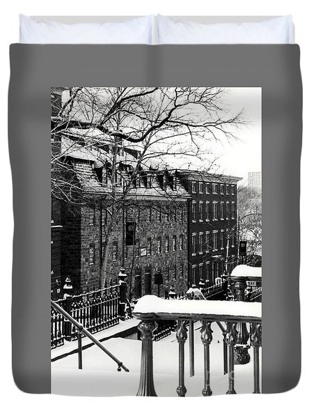 Duvet Cover featuring the photograph Historic Bethlehem Pa by DJ Florek