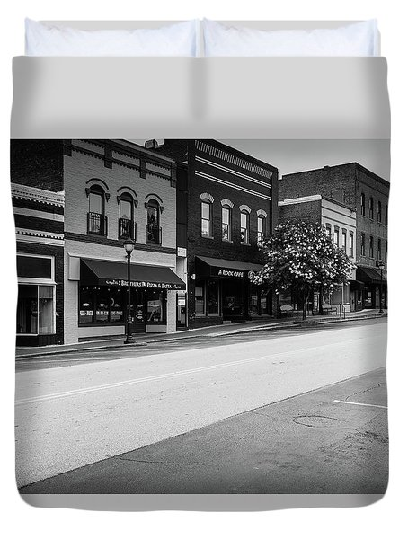 Duvet Cover featuring the photograph Historic Buford Downtown Area by Doug Camara