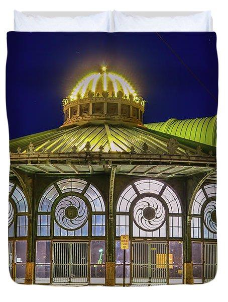 Historic Carousel Building, Asbury Park Nj Duvet Cover