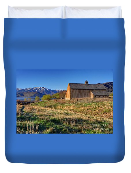 Historic Francis Tate Barn - Wasatch Mountains Duvet Cover