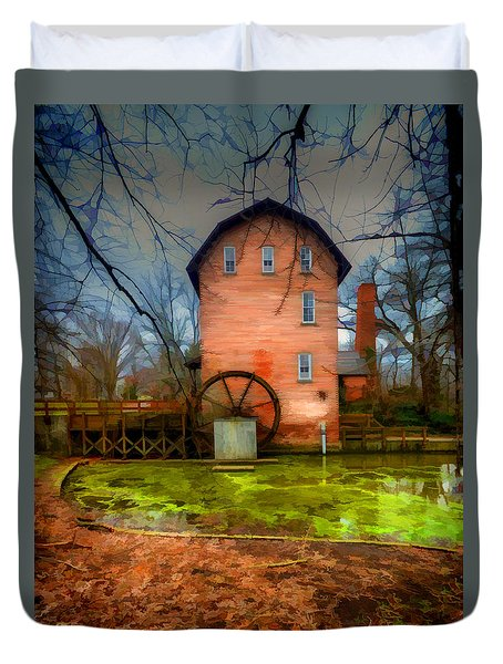 Historic Grist Mill In Hobart, In Duvet Cover