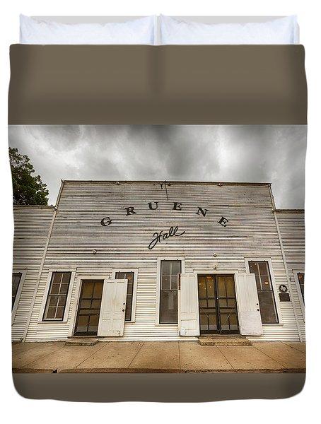 Historic Gruene Hall Duvet Cover